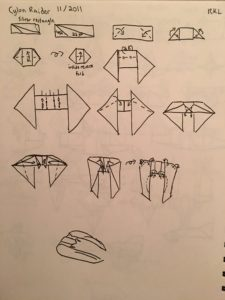 Cylon Raider Diagrams