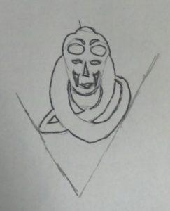 Sketch of Bib Fortuna Silhouette