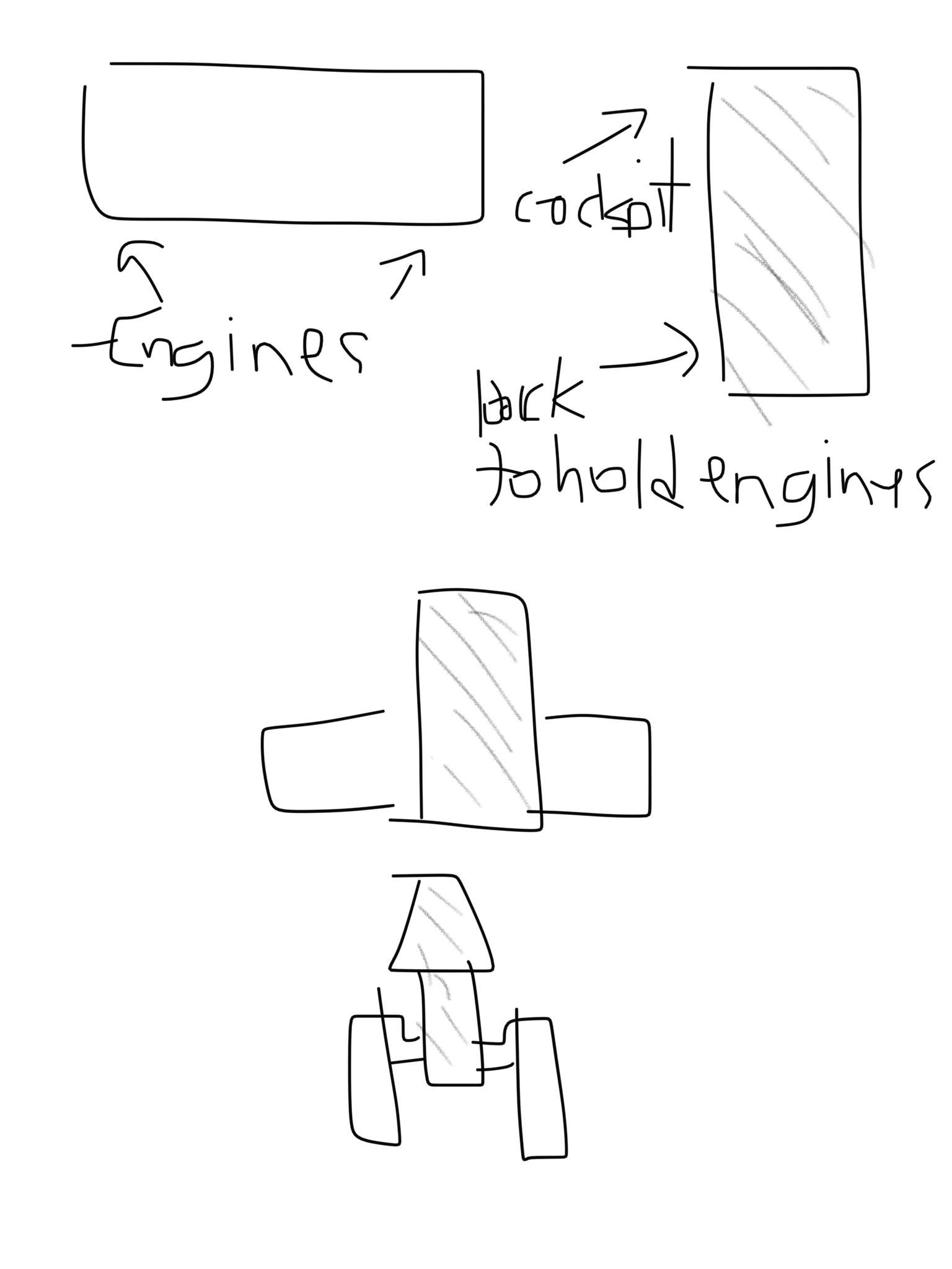 Y-Wing model concept sketch